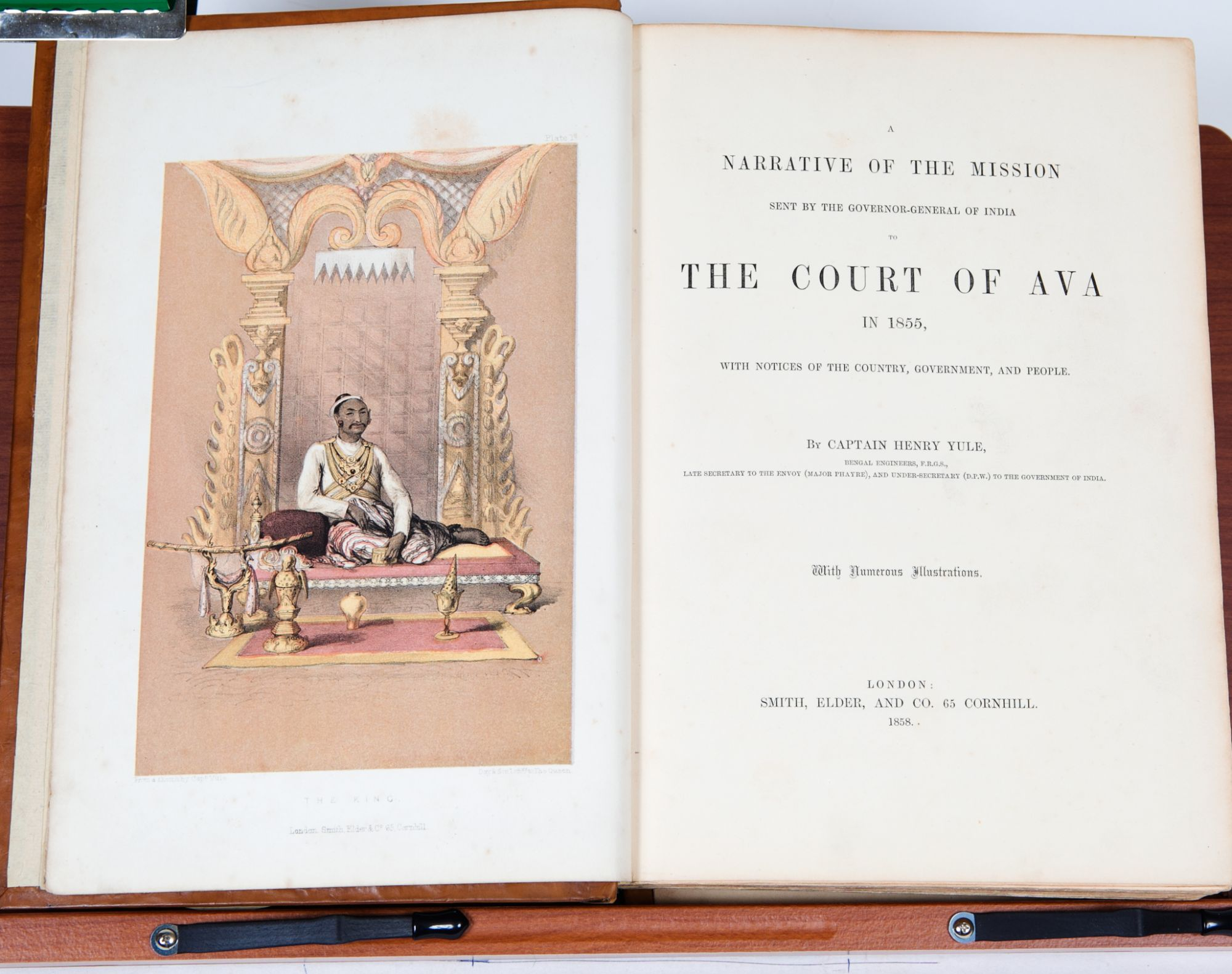 Narrative of the Mission sent by the governor general of India to the Court  of Ava in 1855 by Captain Henry Yule on Trophy Room Books