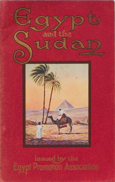 Egypt and the Sudan. Egypt Promotion Assn.