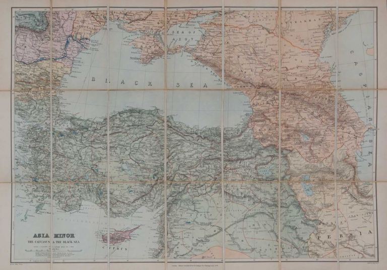 Asia Minor, Caucasus and Black Sea. Edward Stanford.