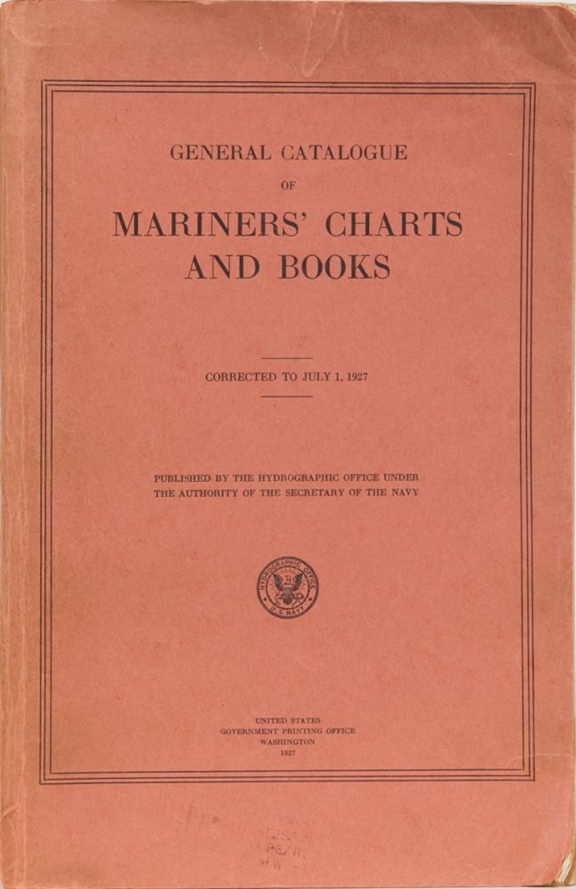 General Catalogue of Mariners' Charts and Books. Anon.
