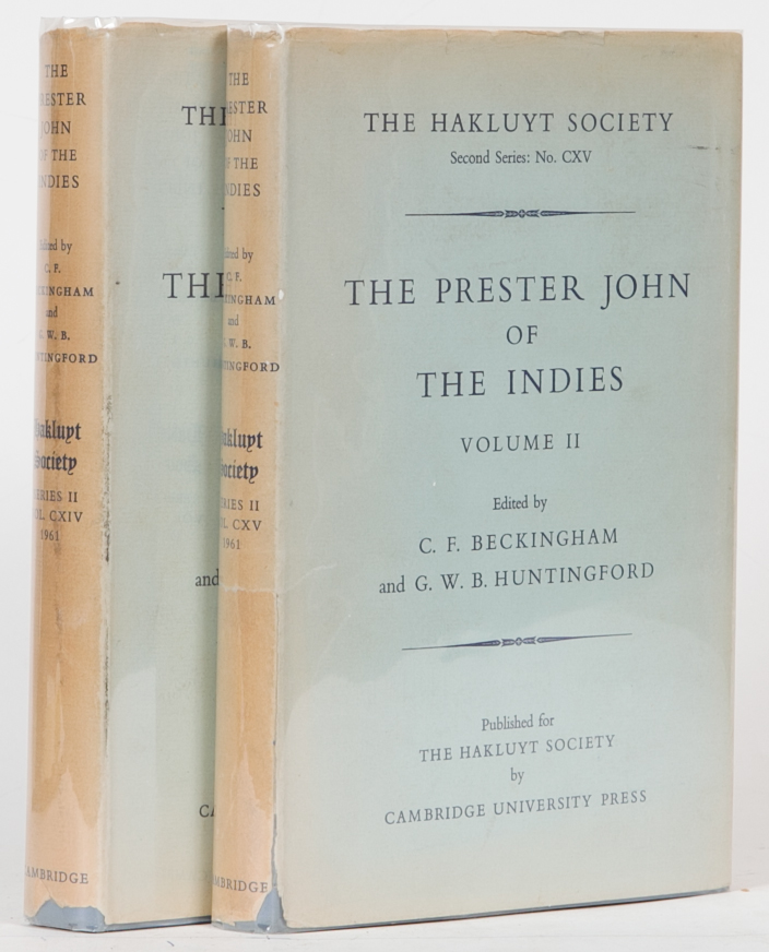 The Prester John of the Indies. C. Beckingham.