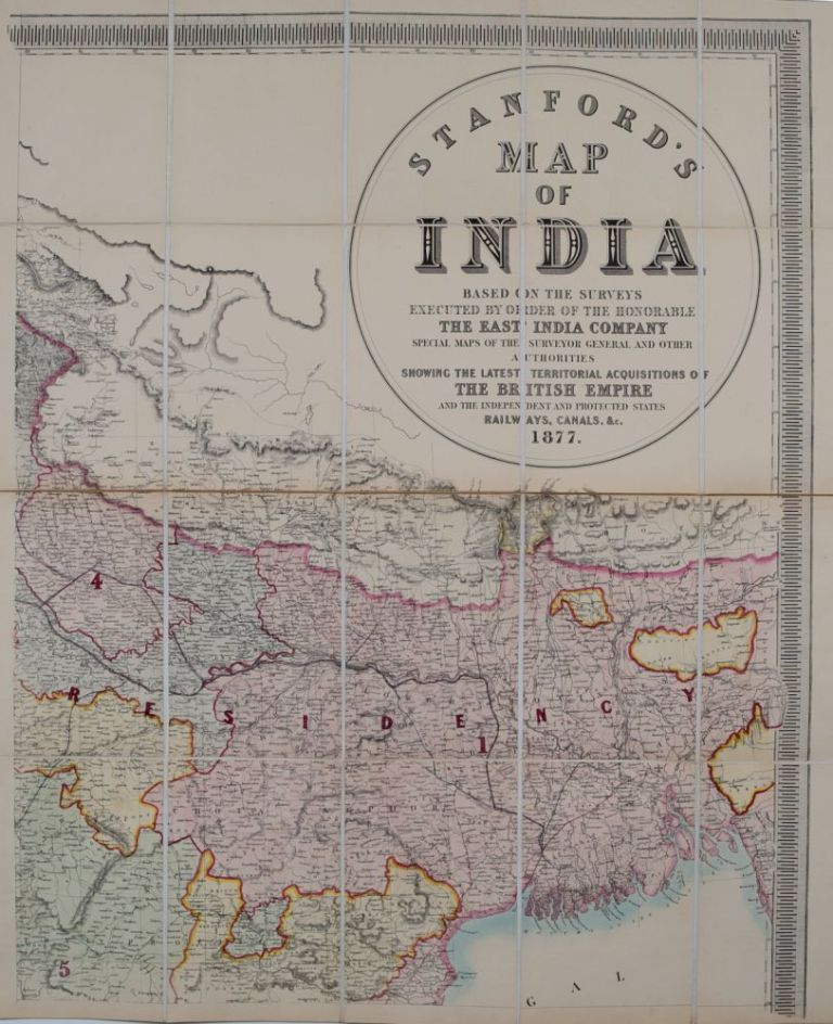 Stanford's Map of India. Edward Stanford.