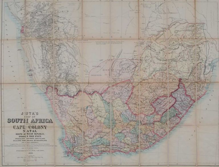 Juta's Map of South Africa. J. Juta.