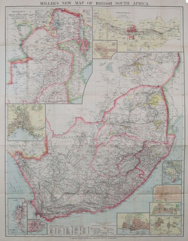 Miller's New Map of South Africa. TM Miller.