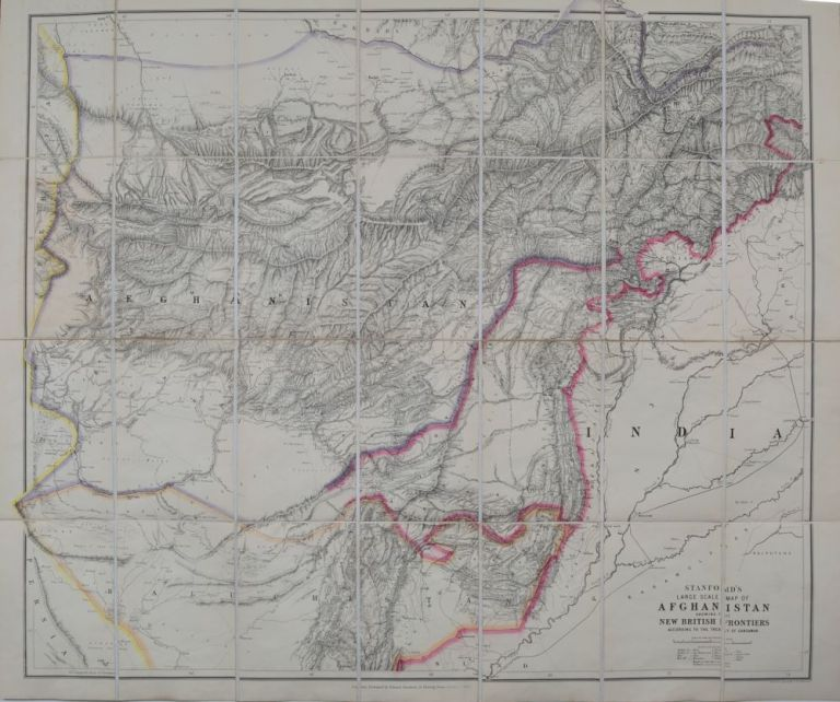 Stanford's Large Scale Map of Afghanistan. E. Stanford.