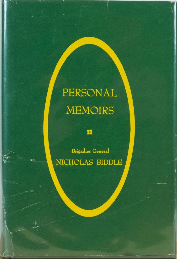 Personal Memoirs An Autobiography. N. Biddle.