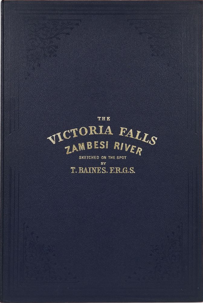 The Victoria Falls of the Zambesi River. T. Baines.