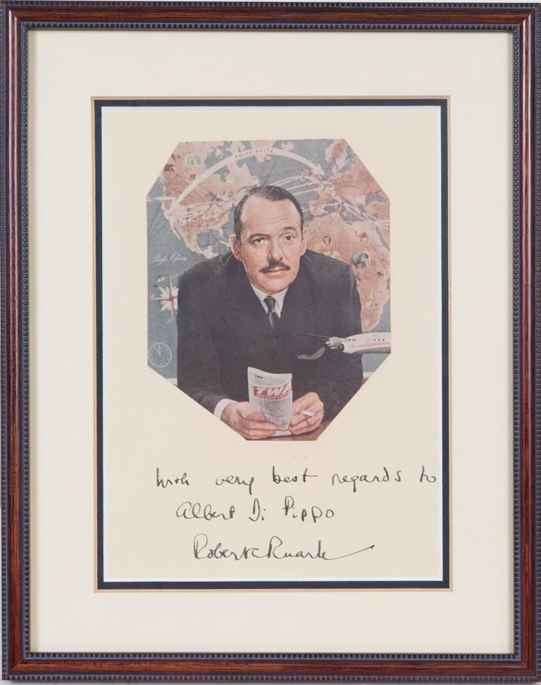 INSCRIBED photograph. Robert Ruark.