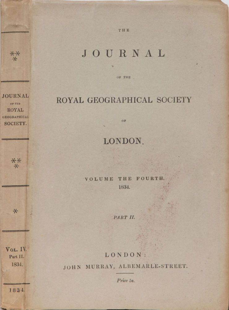 The Journal of the Royal Geographical Society of London. Royal Geographical Society.