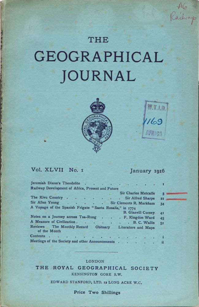 The Geograhical Journal. Royal Geographical Society.