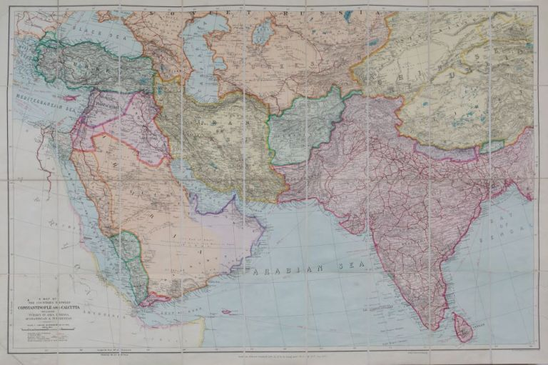 Map of the Countries Between Constaninople and Calcutta Including Turkey in Asia, Persia, Afghanistan and Turkestan. E. Stanford.