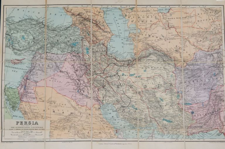 Persia with parts of the Surrouding Countries. E. Stanford.