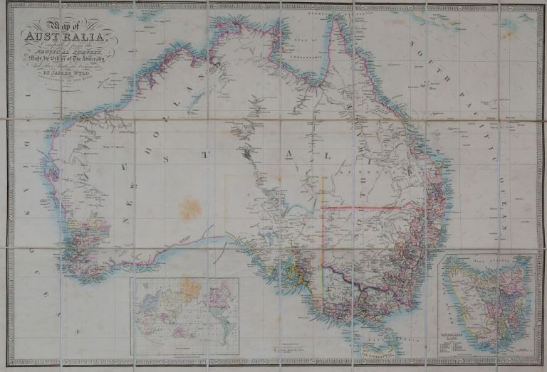 Map of Australia. James Wyld.