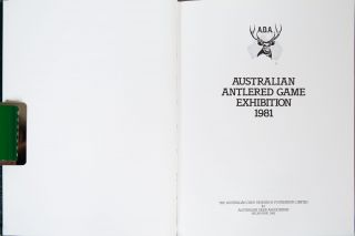 Australian Antlered Game Exhibition