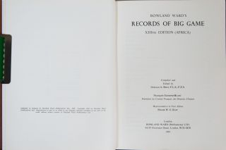 Records of Big Game - 13th Edition