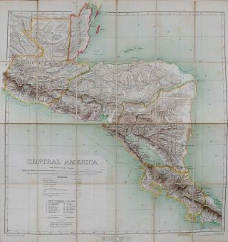 Central America. Edward Stanford.