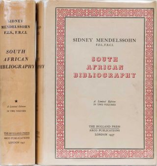 South African Bibliography. S. Mendelssohn.