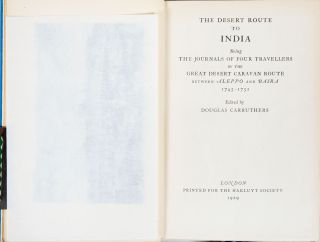 The Desert Route to India
