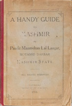 A Handy Guide to Kashmir. M. Langar