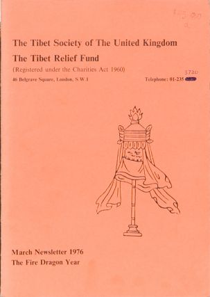 Newsletter March 1976. Tibet Society.