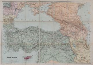 Asia Minor, the Caucasus & the Black Sea. E. Stanford.