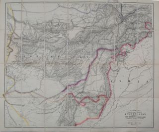 Stanford's Large Scale Map of Afghanistan. E. Stanford