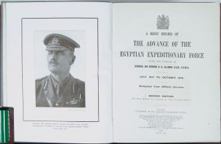 A Brief Record of the Advance of the Egyptian Expeditionary Force