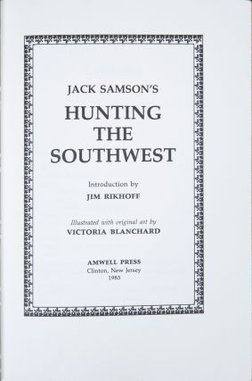 Hunting the Southwest