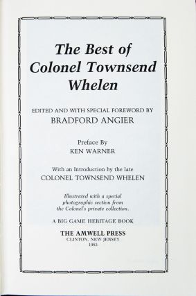 The Best of Colonel Townsend Whelen