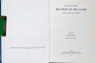 Rowland Ward's Records of Big Game
