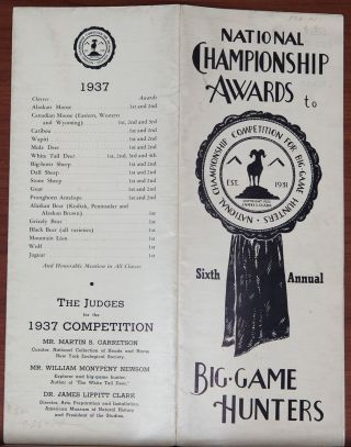 National Championship Awards. James L. Clark.