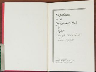 Experiences of a Jungle-Wallah