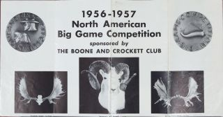 1956-1957 North American Big Game Competitions. Boone, Crockett Club