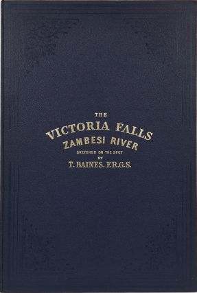 The Victoria Falls of the Zambesi River. T. Baines