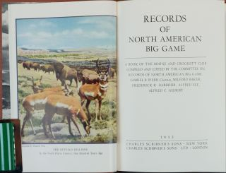 Records of North American Big Game 1952