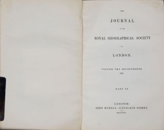 The Journal of the Royal Geographical Society of London