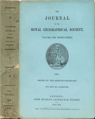The Journal of the Royal Geographical Society of London. Royal Geographical Society