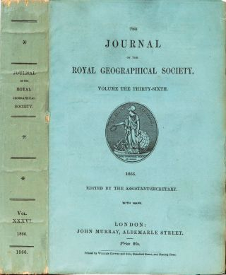 The Journal of the Royal Geographical Society. Royal Geographical Society