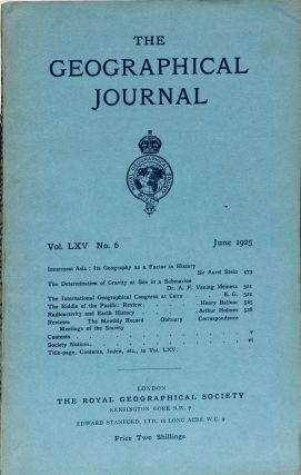 The Geographical Journal. Royal Geographical Society