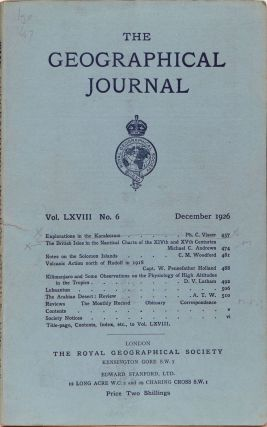 The Geographical Journal. The Royal Geographical Society