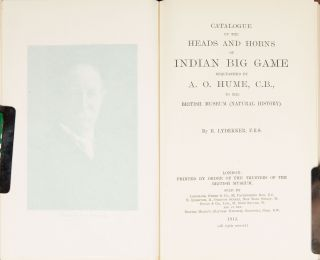 Catalogue of the Heads and Horns of Indian Big Game