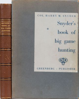 Snyder's Book of Big Game Hunting