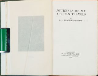 Journals of My African Travels