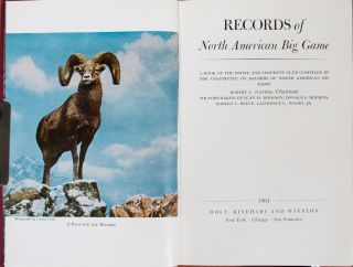 Records of North American Big Game 5th edition 1964