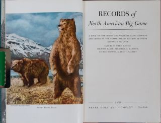 Records of North American Big Game 4th edition 1958