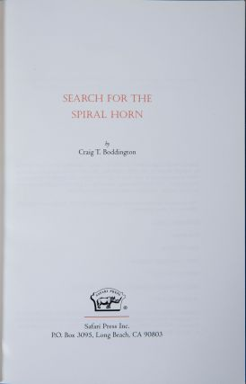 Search for the Spiral Horn