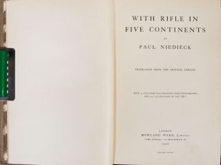 With Rifle in FIve Continents