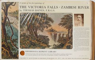 The Victoria Falls - Zambezi River. Thomas Baines