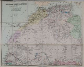 Marocco, Algeria & Tunis with Parts of Senegal and the Military Territories of the Western Sudan. E. Stanford.