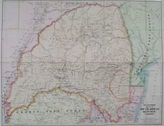Stanford's Map of the South African Republic (Transvaall). E. Stanford